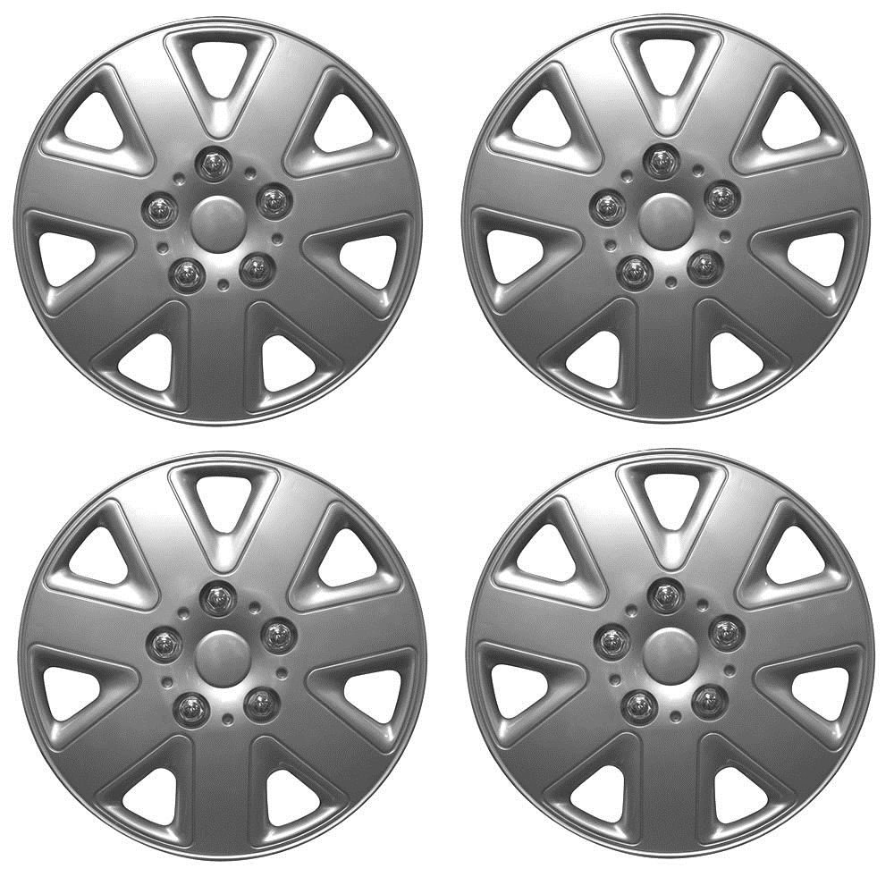 NISSAN PIXO 14' Hurricane Car Wheel Trims Hub Caps Plastic Covers Silver Wing Mirrors World