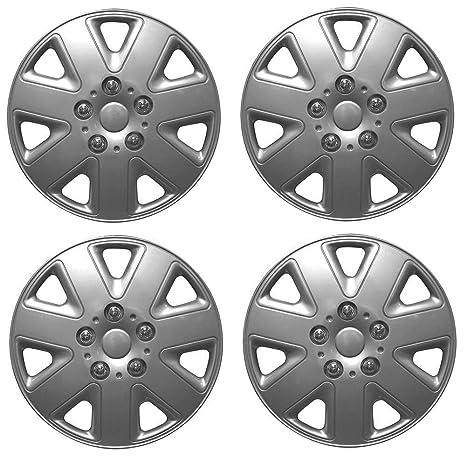 """Wing Mirrors World Opel Corsa 15 """"huracán Fundas para tapacubos de plástico Plata"""