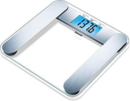 Amazon Com Beurer Bf221 Body Fat Scale Xl Digital Weight Scale Body Fat Analyzer Measures Body Weight Body Fat Body Water Bone Mass Muscle Auto Recognition 10 Memory