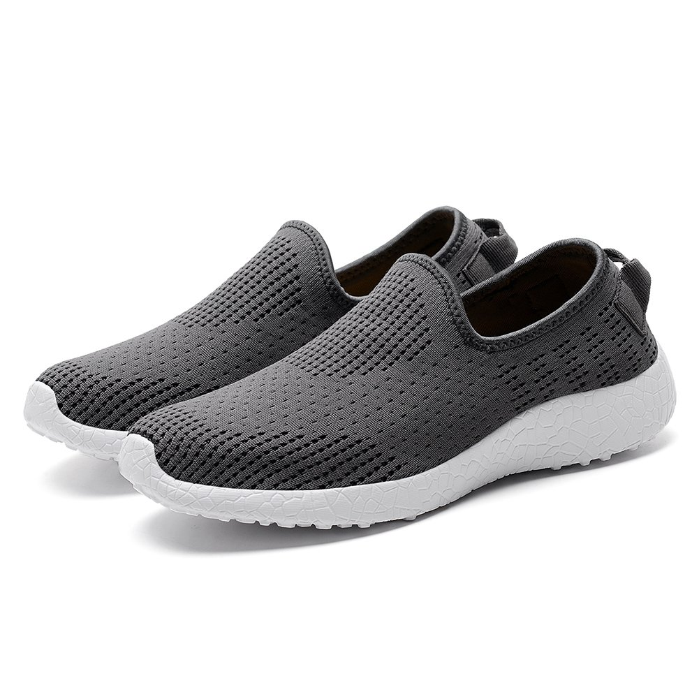 KONHILL Men's Casual Walking Shoes Athletic - Knit Breathable Tennis Athletic Shoes Running Sneakers Shoes B075V13RJJ 8 D(M) US|8255 Dark Gray 5de79f