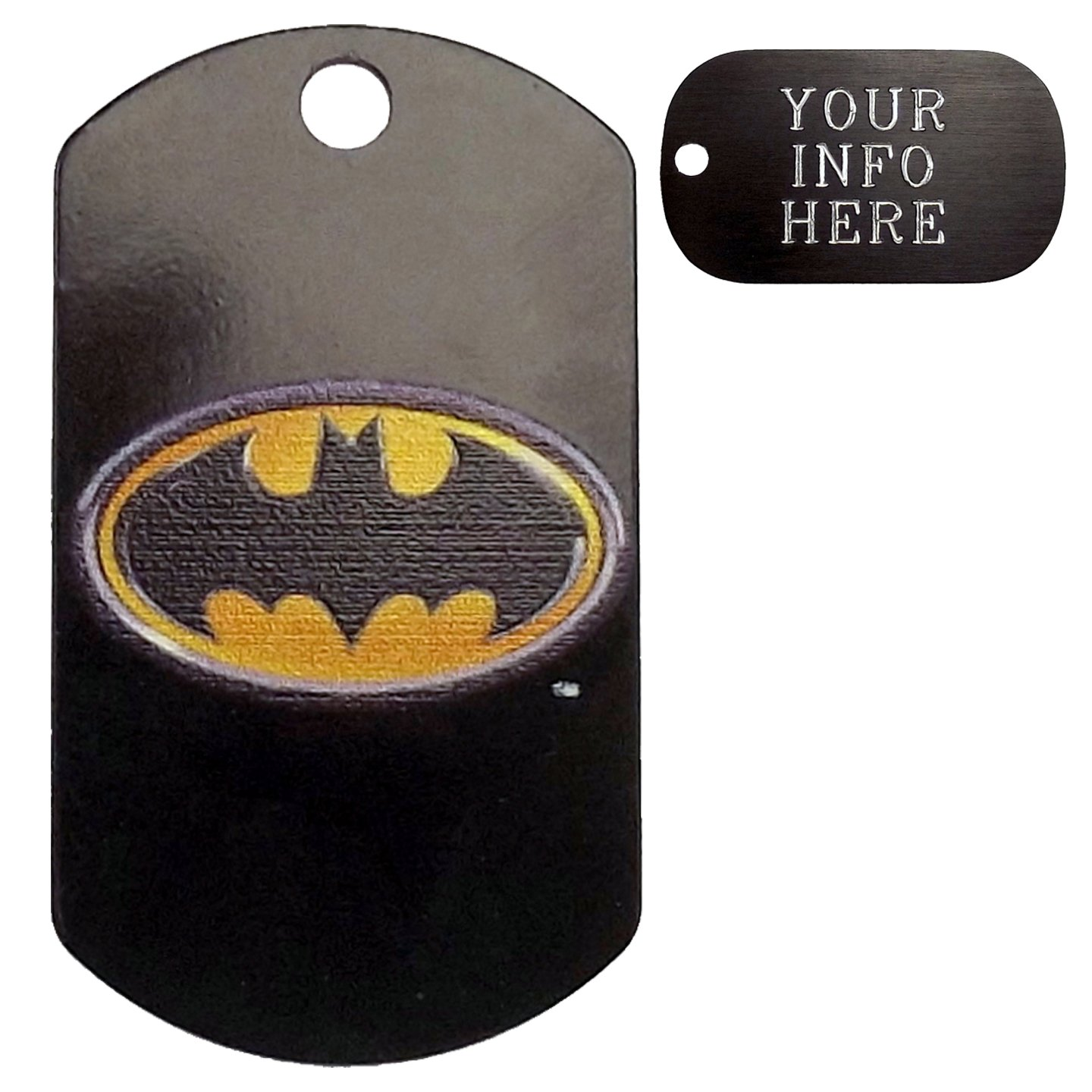 Customized Batman Pet Tag - Military Shape