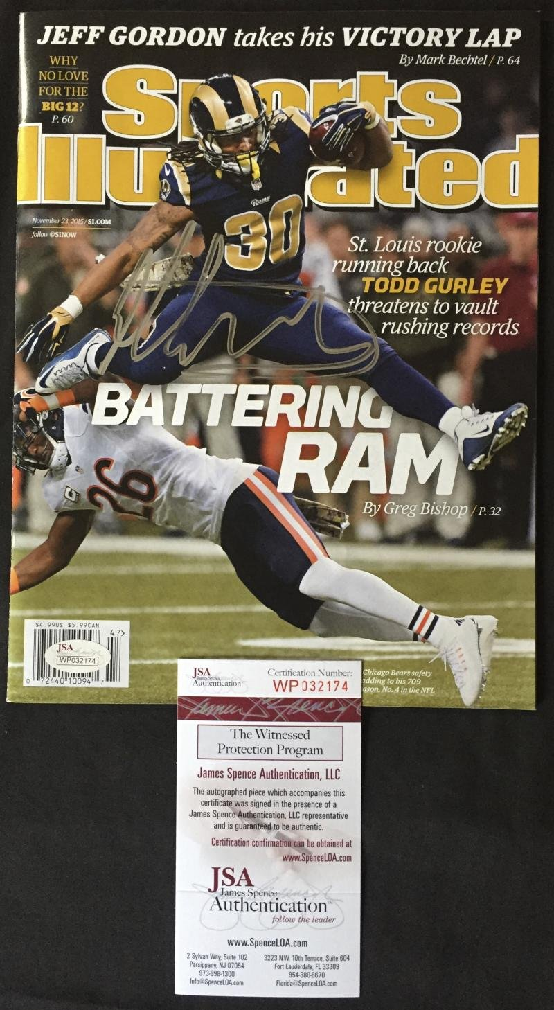 the best attitude 4d7e4 25b36 TODD GURLEY SIGNED SPORTS ILLUSTRATED MAGAZINE ST LOUIS RAMS ...