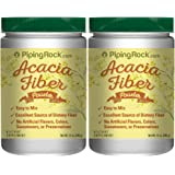 Piping Rock Acacia Fiber Powder 2 Bottles x 12 oz (340 g) Easy Mix Dietary Supplement