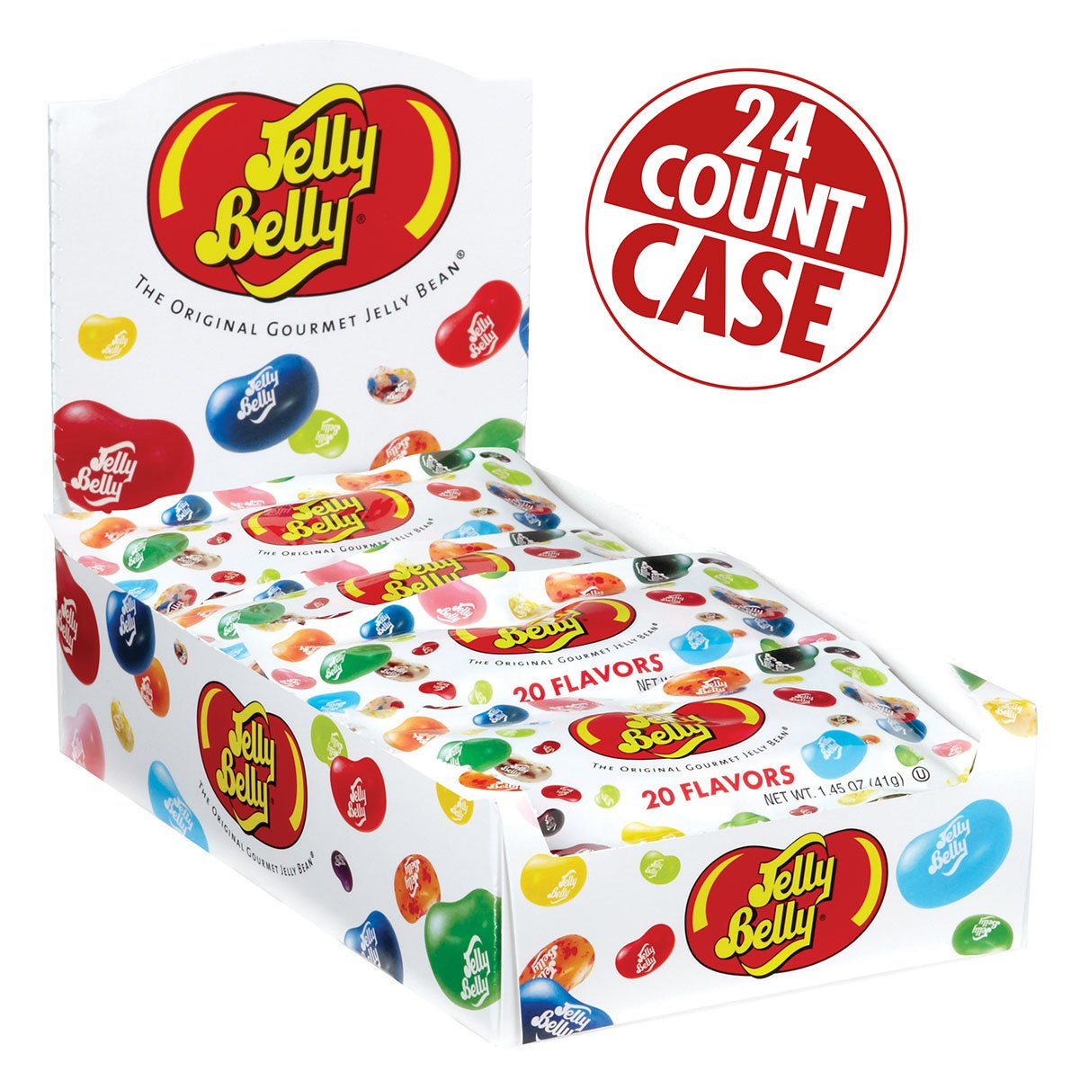 Jelly Belly 20 Assorted Jelly Bean Flavors - 24 x 1.45 Ounce Bags - Genuine, Official, Straight from the Source