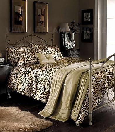 Lenzuola Leopardate Matrimoniali.Favoloso Completo Lenzuola 5 Pz Copripiumino Federe Cuscino