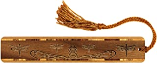 product image for Dragonflies, Engraved Wooden Bookmark on Walnut with Tassel - Search B07VDNH7RC for Personalized Version.