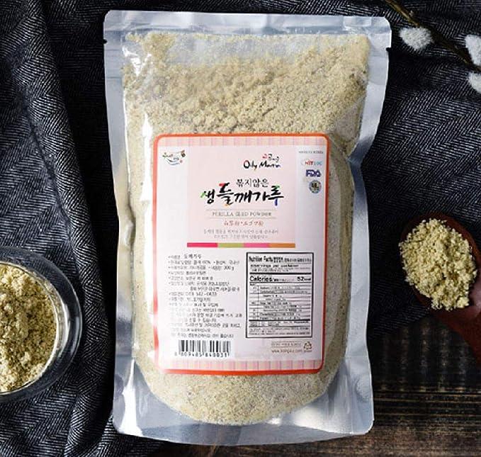 Gong Food 韓国 生エゴマ粉 えごまの粉 300g 500g [並行輸入品] (500g)