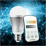 Texsens E27 9W 800LM LED Light Bulbs Dimmable With 2.4GHz Wireless Remote Control, Adjustable Color Temperature (Warm / Cool), Color Changing, Various Brightness Levels