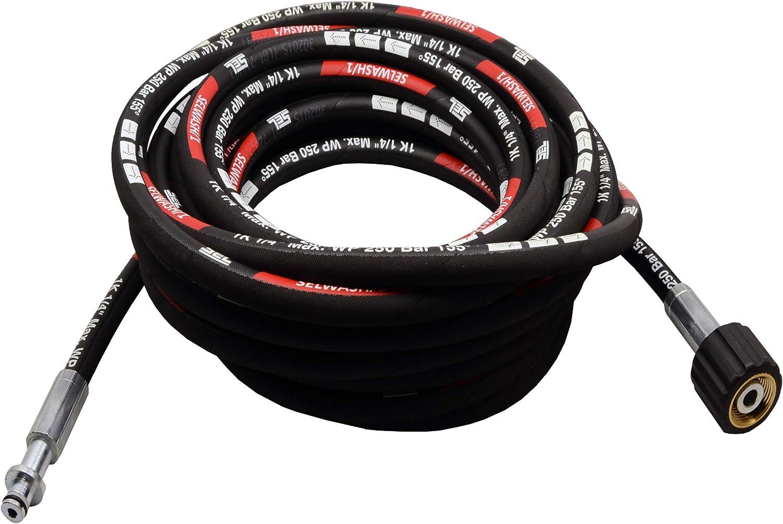 10m Tuyau Flexible Haute Pression Pour Karcher K 2.38 M 10m, 250bar, 155/°C, 10mm x M22