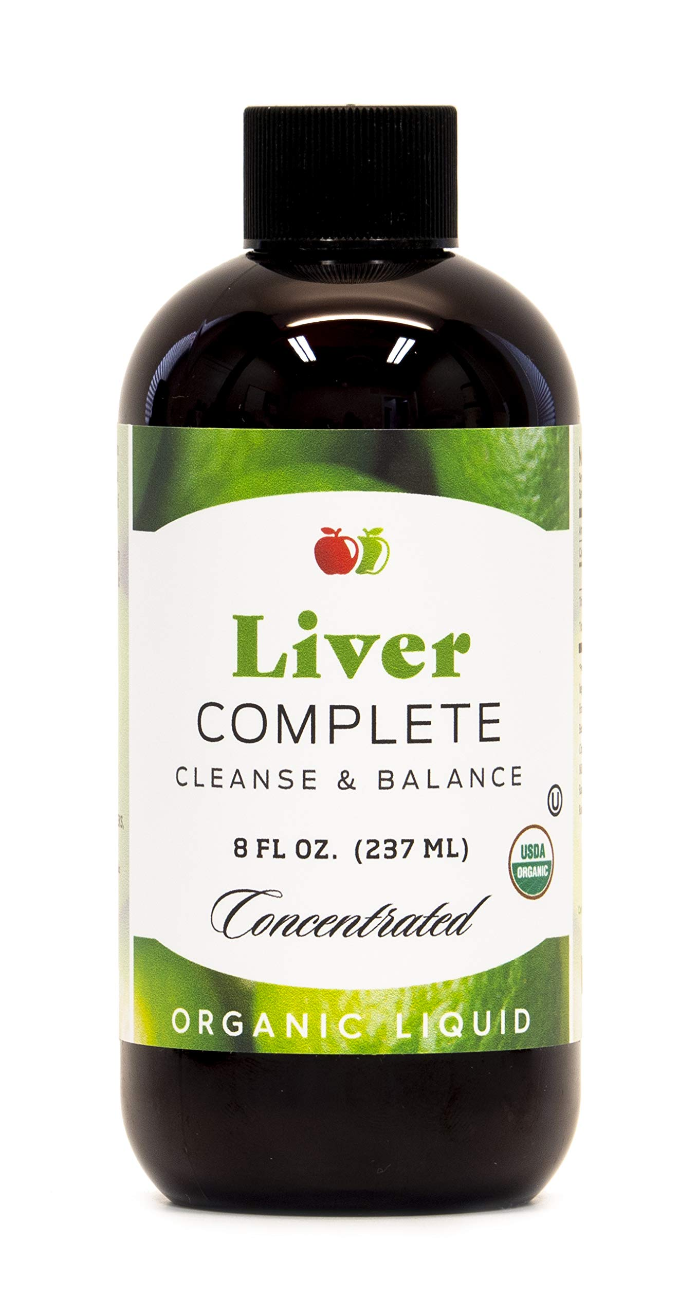 Liver Complete 8oz Organic Liquid Concentrate - Liver Cleanse & Digestive Bitters Vinegar Supplement by Complete Natural Products