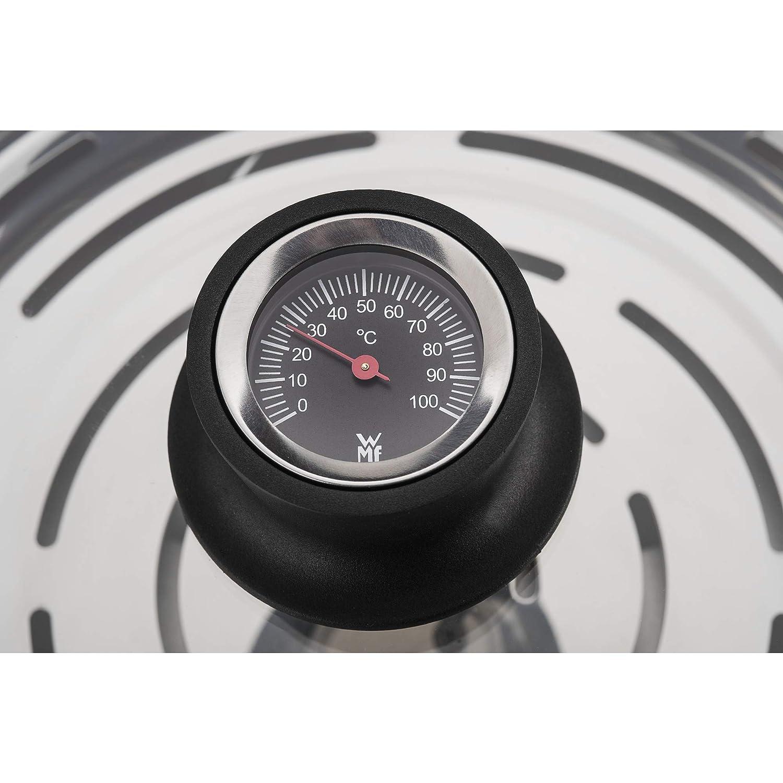Croma rgan Acciaio Inossidabile Silicone Rand /Ø 24/cm Termometro con coperchio in vetro spuelmaschinengeeignet WMF Vari ocuisine ortaggi