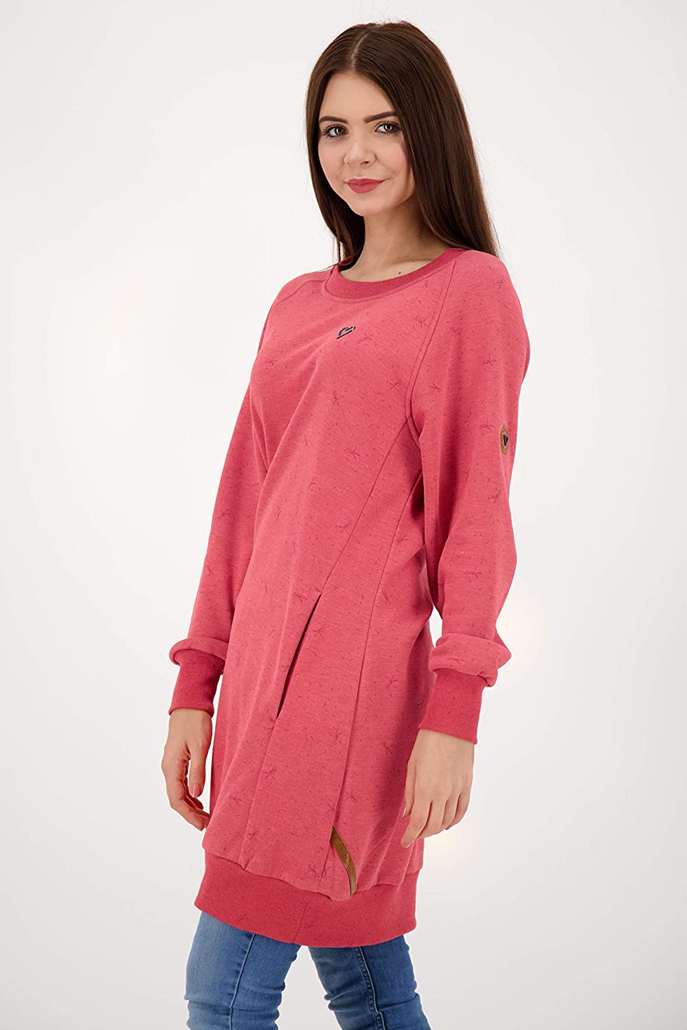 ALIFE and Kickin DeliaAK Sweatdress Damen Sweatkleid Cranberry