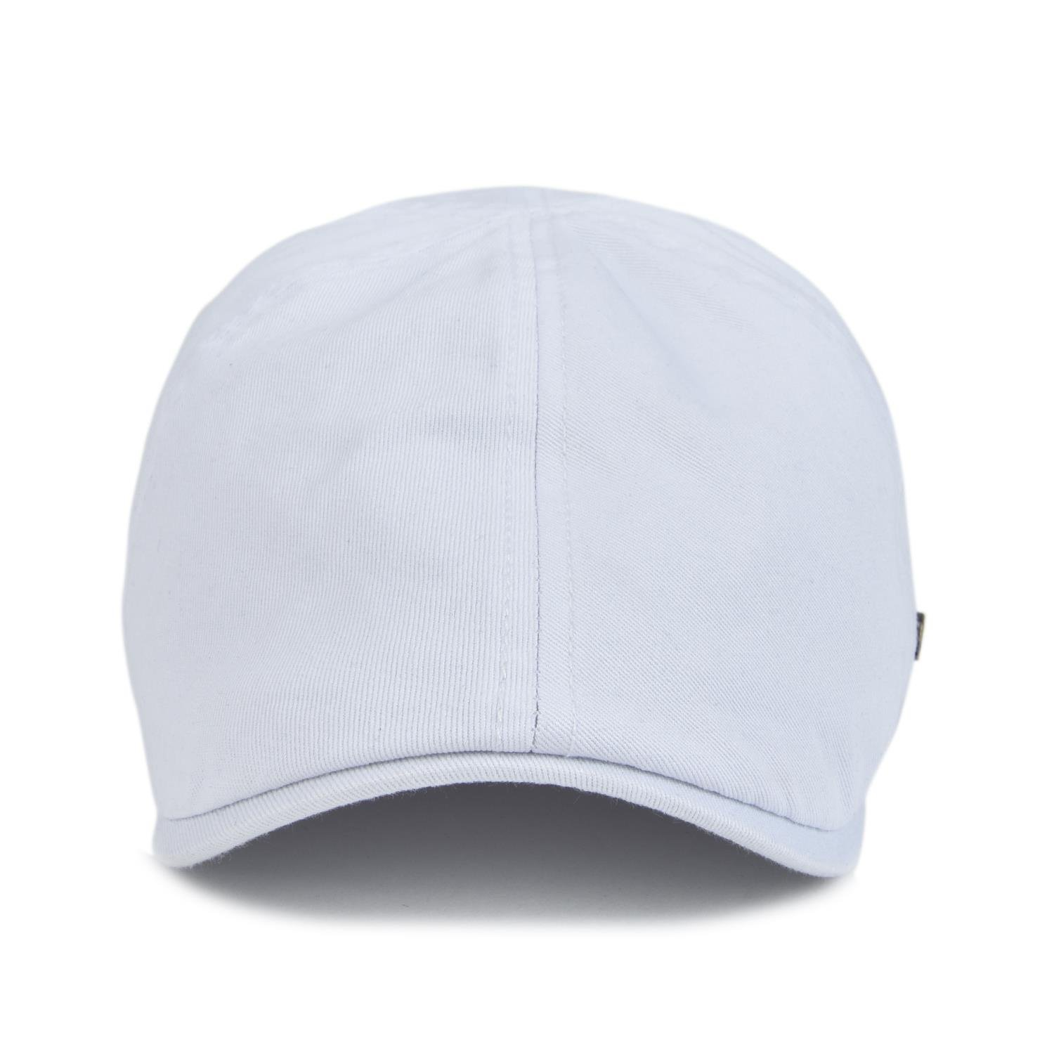 VOBOOM Cotton Flat Cap Cabbie Hat Gatsby Ivy Cap Irish Hunting Hat Newsboy  (White) - BDBL063-Whit   Newsboy Caps   Clothing 147bf084cb6f