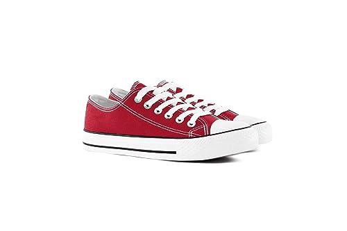 Nineties Zapatillas Canvas de Lona - Mujer - Estilo Casual y Deportivo - Mucho Colores - Desde 36 Hasta 41: Amazon.es: Zapatos y complementos