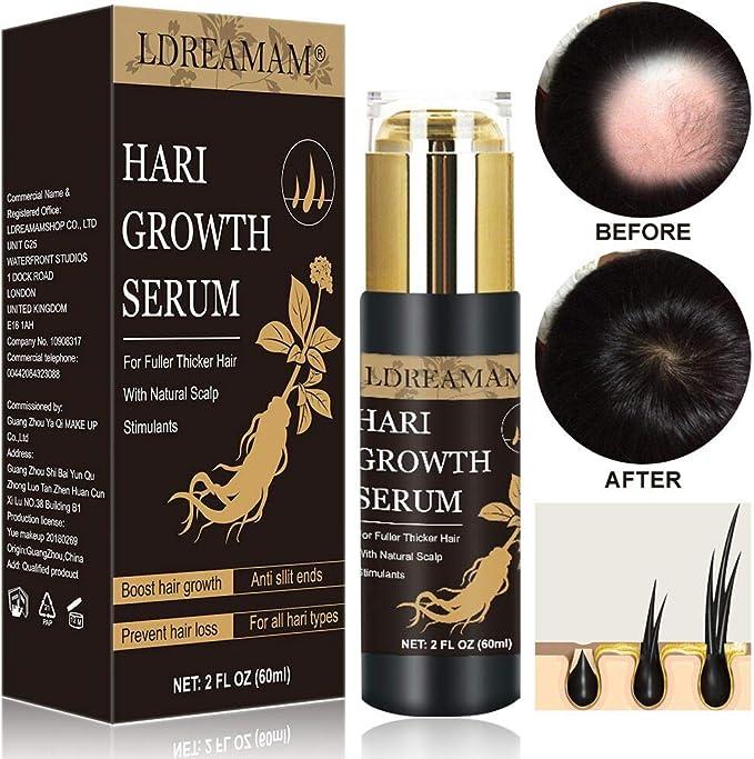 Hair Serum,Aceite para Crecimiento del Cabello,Crecimiento del ...