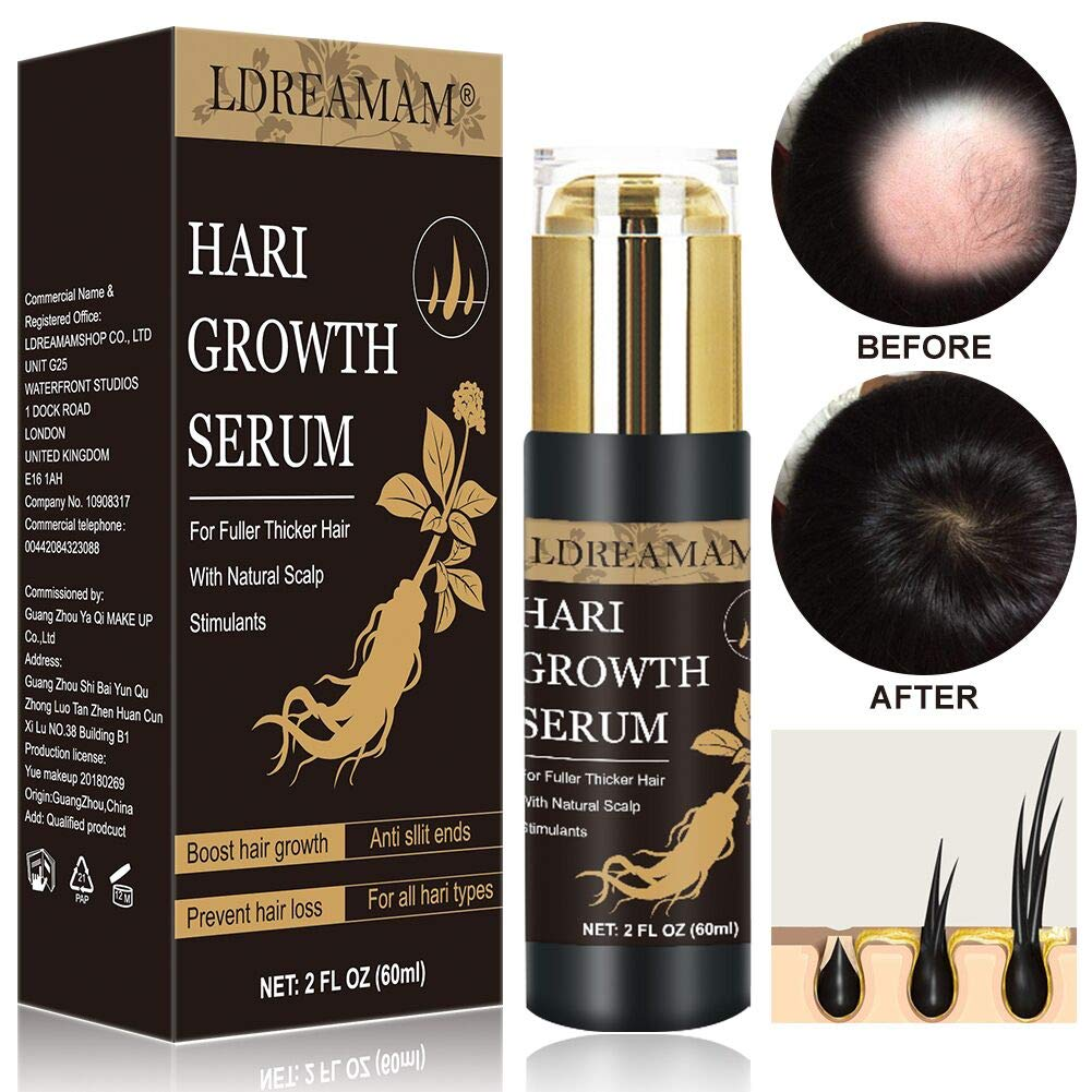 Hair Growth Serum, Anti-Hair Loss Serum, Strengthen Hair Roots Thickening, Promote Hair Growth Regrowth Product for Men and Women  by LDREAMAM