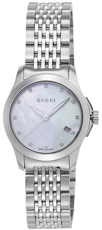 [グッチ]GUCCI 腕時計 Gタイムレス ホワイトパール文字盤 ダイヤモンド デイト YA126504 レディース 【並行輸入品】 B0077G3BI8