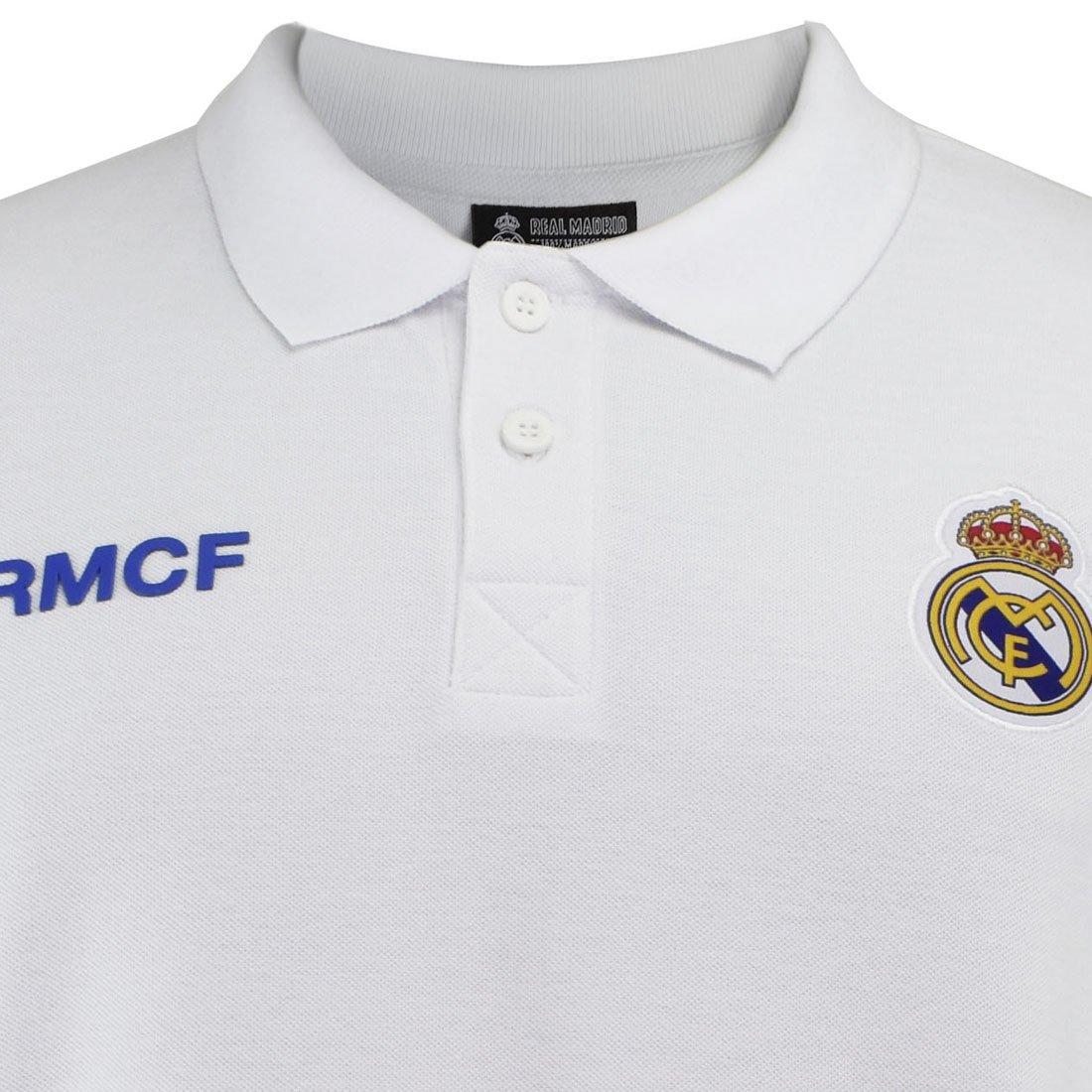 Real Madrid Polo Nº 1 Blanco T-S: Amazon.es: Ropa y accesorios