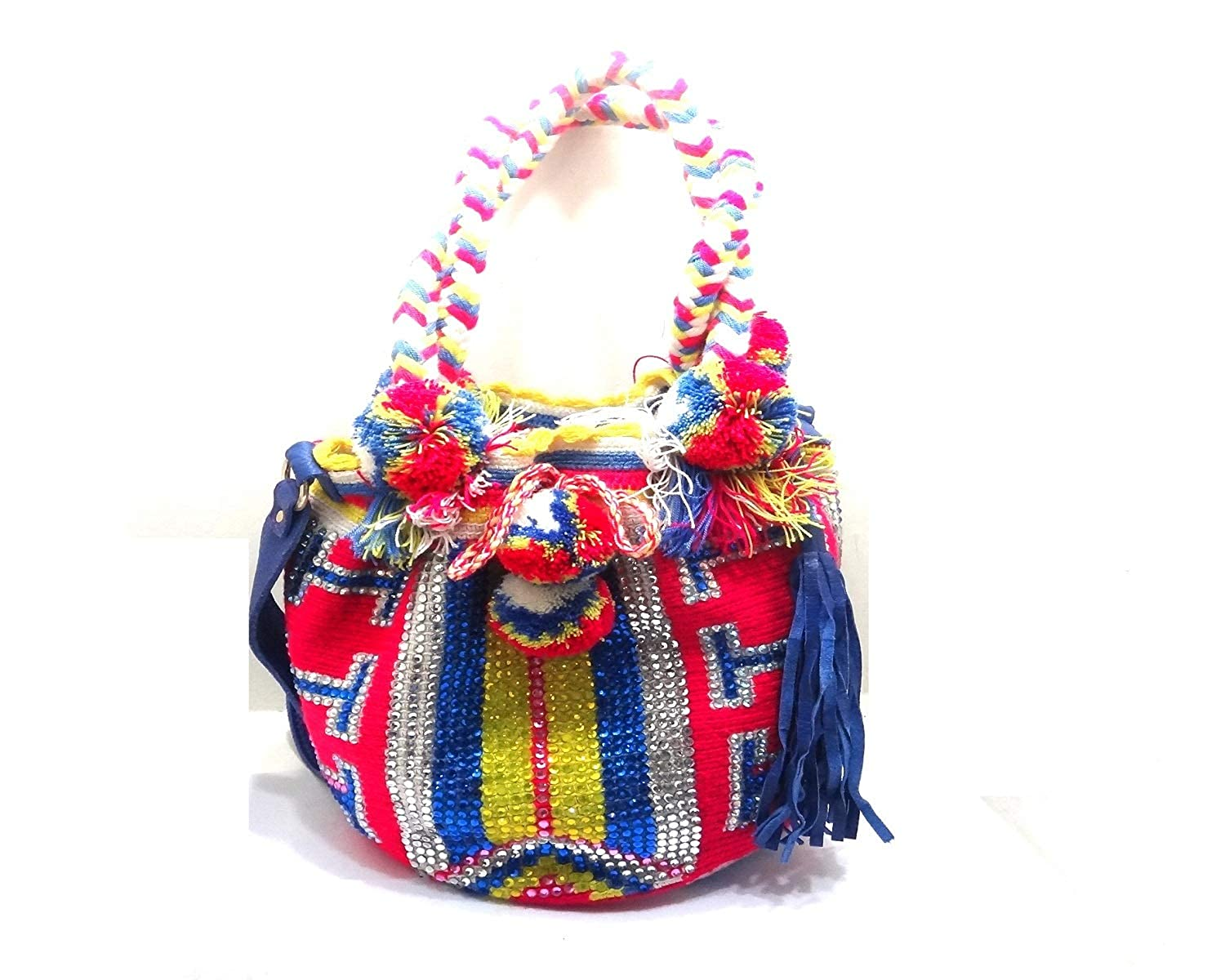 Amazon.com: GSC Moda Wayuu Women Handbag Ethnic 100% hand Woven Shoulder Bag Mochila Colombian: Jewelry