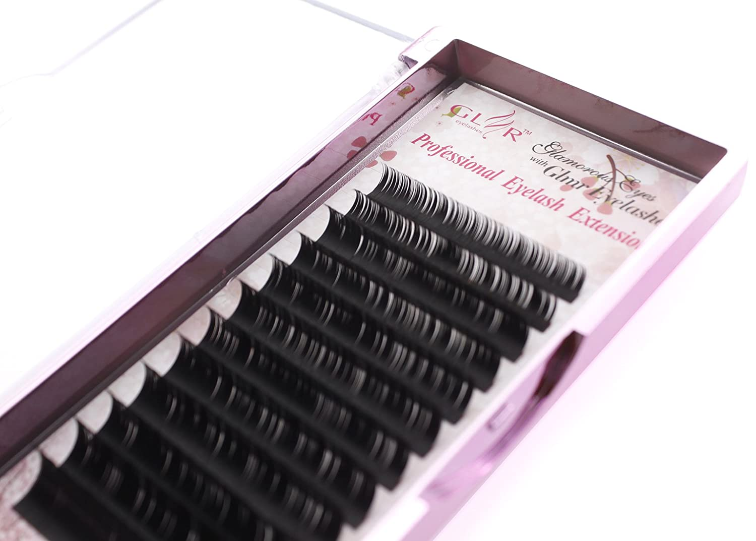 Volume Faux Mink Eyelash Extensions 0.07mm Thickness B Curl 8-14mm Mixed Individual Light Natural Lash Extensions Soft Application for Professional Salon Use (0.07-B Curl-mix) GLMR 0.07 B Curl Mix