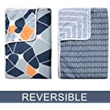 Divine Casa Reversible Single AC Blanket/Dohar Set of 2-Grey and Blue