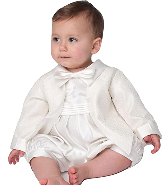 Vivaki - Ropa de Bautizo - para bebé niño Marfil Marfil  Amazon.es  Ropa y  accesorios a2893afa3142