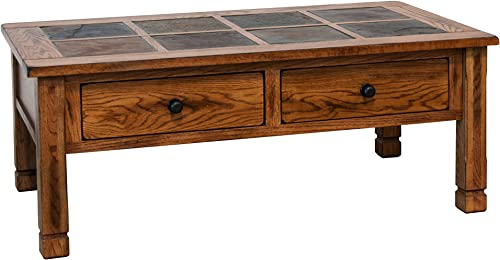 Sunny Designs Sedona Slate 2 Drawer Coffee Table