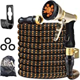 XBUTY Garden Hose Expandable (Patented) - Super Durable Water Hose with Upgraded Anti-Leak System, 4-Layer Latex Tube, Premiu