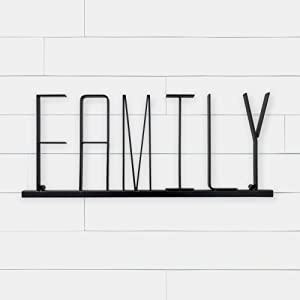 BarWild Farmhouse Style Metal Family Sign, Home Metal wall Sign-3D Word Art Home Accent Decor-Perfect for Vintage Farmhouse Style or Modern Rustic Style