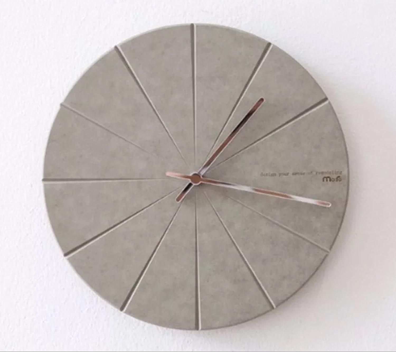 北欧 時計 おしゃれ 掛時計 壁掛け 掛け時計 リビング 現代 シンプル ファッション 水晶時計 シズネ 個性 鐘 グレー EBODONG B078W92XKPグレー