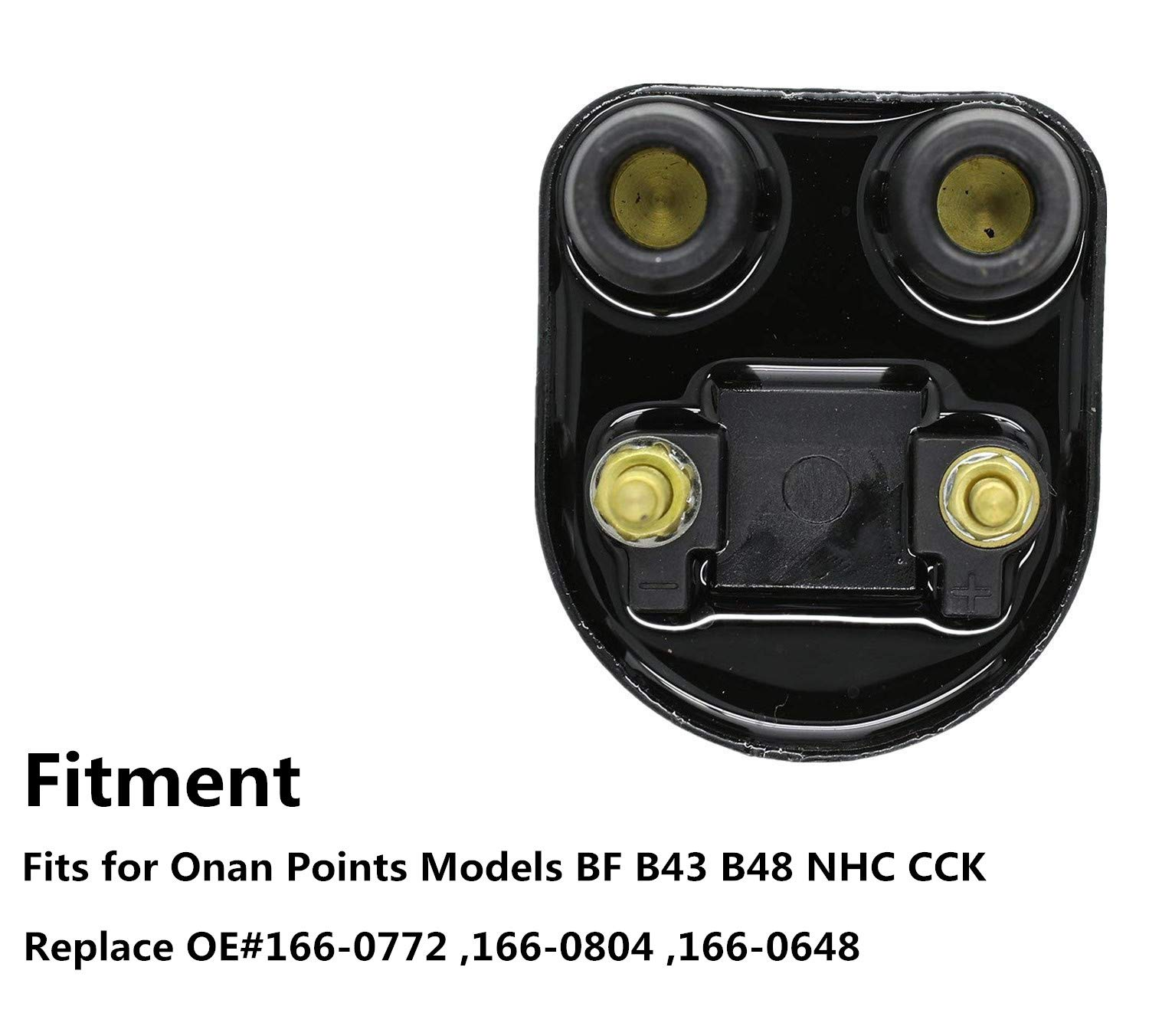 Ignition Coil For Onan Points Models Bf B43 B48 Nhc Cck Cub Cadet Engine Wiring Diagram Replaces Oe166 0648 166 0772 0804 New Automotive