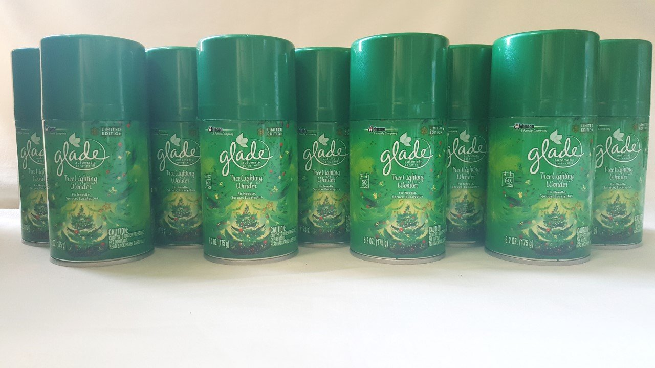 Glade 9 AUTOMATIC AEROSOL SPRAY AIR FRESHENER TREE LIGHTING WONDER SPRUCE Oil by Glade (Image #1)
