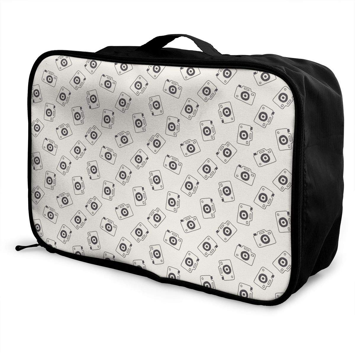 JTRVW Luggage Bags for Travel Lightweight Large Capacity Portable Duffel Bag for Men /& Women Camera Pattern Travel Duffel Bag Backpack