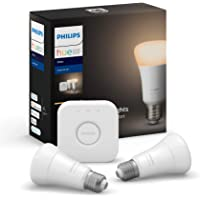 Philips Hue Edison Screw Bulbs E27 White LED Smart Bulb Starter Kit (Compatible with Bluetooth, Amazon Alexa, Apple…