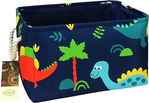 Cactus Clothes Perfect for Kid Rooms//Playroom//Shelves Books HUNRUNG Rectangle Storage Basket Cute Canvas Organizer Bin for Pet//Kids Toys