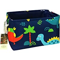 HUNRUNG Rectangle Storage Basket Cute Canvas Organizer Bin for Pet/Kids Toys, Books, Clothes Perfect for Kid Rooms…