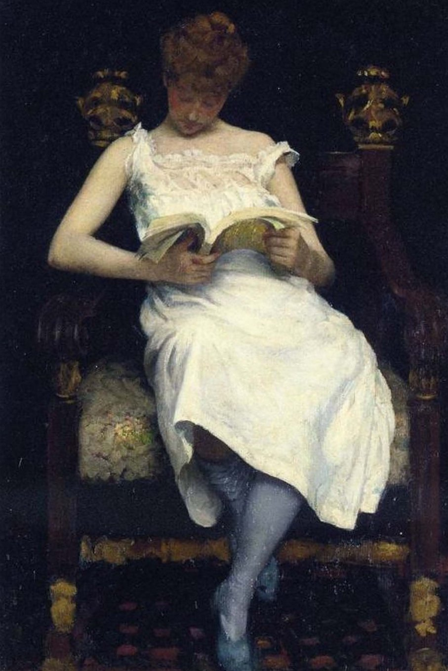 Download Girl Reading (1893) Edward E. Simmons Art Journal: 150 page lined notebook/diary ebook