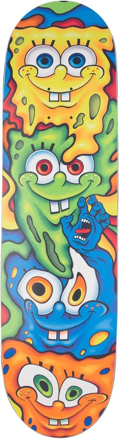 Santa Cruz Skateboard Deck Spongebob Melt Everslick 8.5 x 32.2