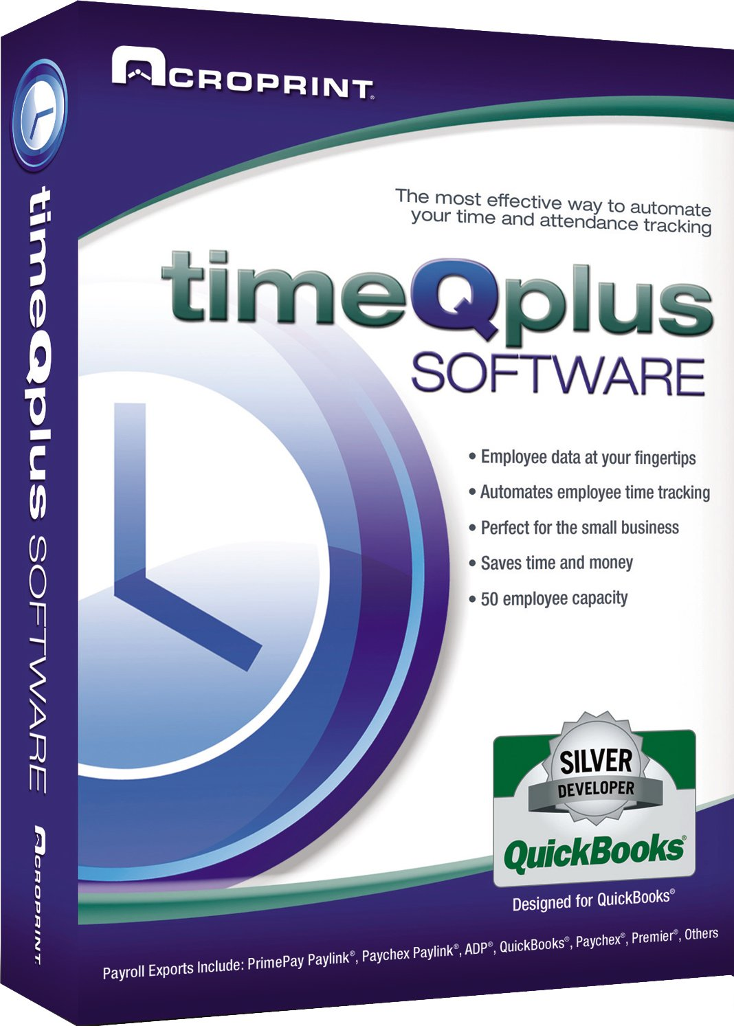 Acroprint timeQplus Software - Single Location Time and Attendance Software Time Clock by Acroprint