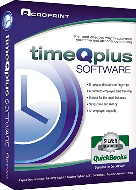 Acroprint timeQplus Software - Network Accessible Time and Attendance  Software Time Clock