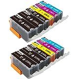 Sotek PGI-225 CLI-226 High Yield Ink Cartridges, Work for Pixma MG5320 MG5220 MX882 IX6520 IP4920 IP4820 Inkjet Printer 12 Pack (2 Sets + 2 BK)