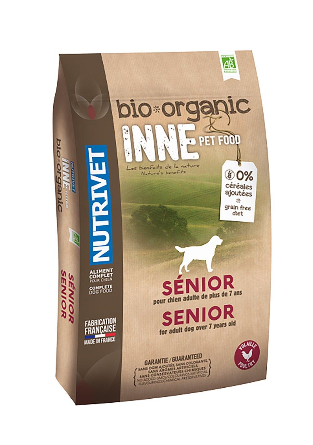 Nutrivet INNE PET FOOD Aliment Complet Bio pour Chien Senior 3 kg 9054