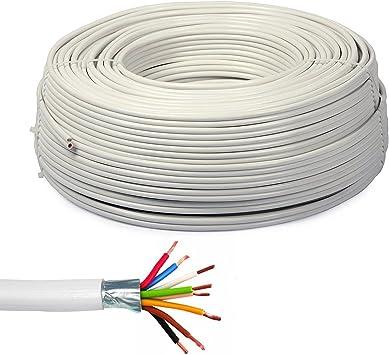 Bobina 100/m Cable para alarma antirrobo apantallado 2/x 0,22/ 2/x 0,50/Bobina