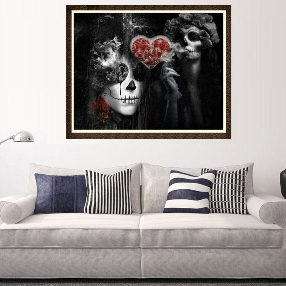 5D Diamond Painting Halloween Skull Embroidery DIY Home Decoration Cross Stitch Wall Decor by Diamond Painting! Paymenow Clearance (Image #2)