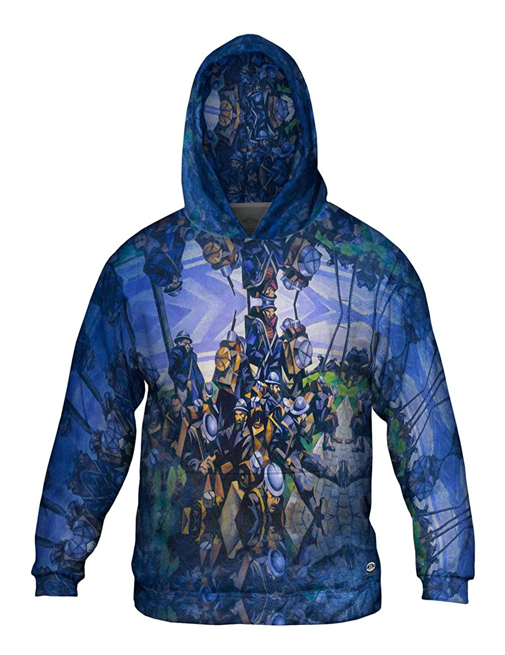 Mens Hoodie 2486 Allover Print French Tr Yizzam- Christopher Nevinson