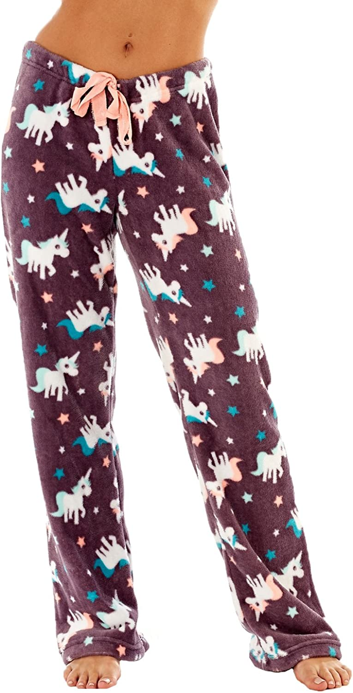 Eule Fox Damen Fleece Freizeithose // Pyjamahose ~ Einhorn Pinguin