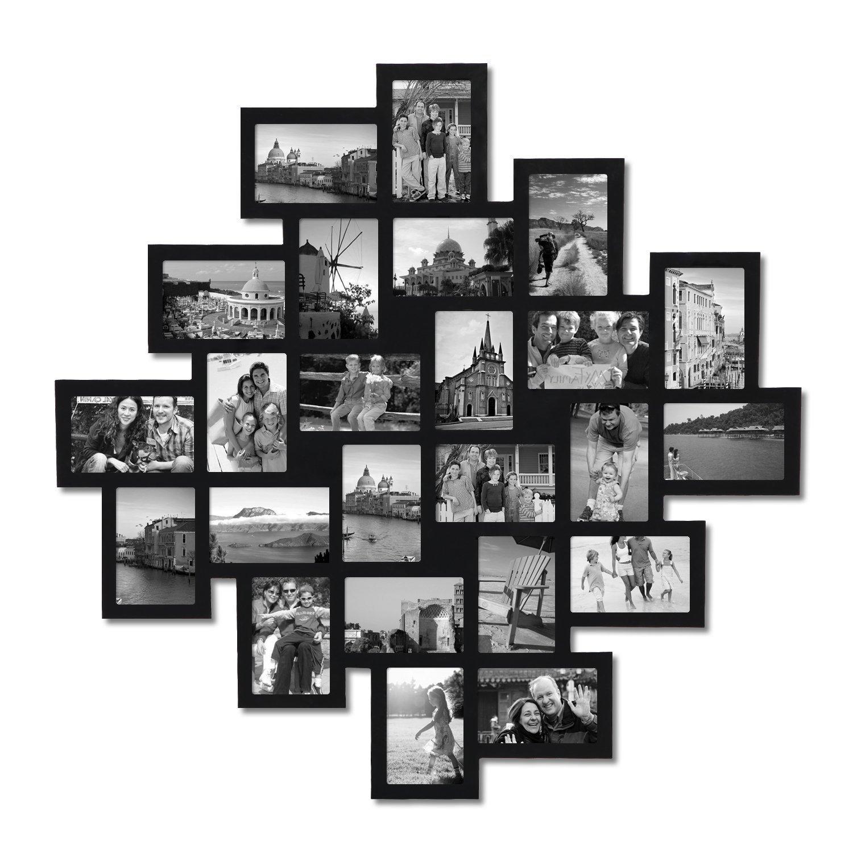 Amazon.com - Adeco 24-Opening Black Wood Wall Hanging Collage ...