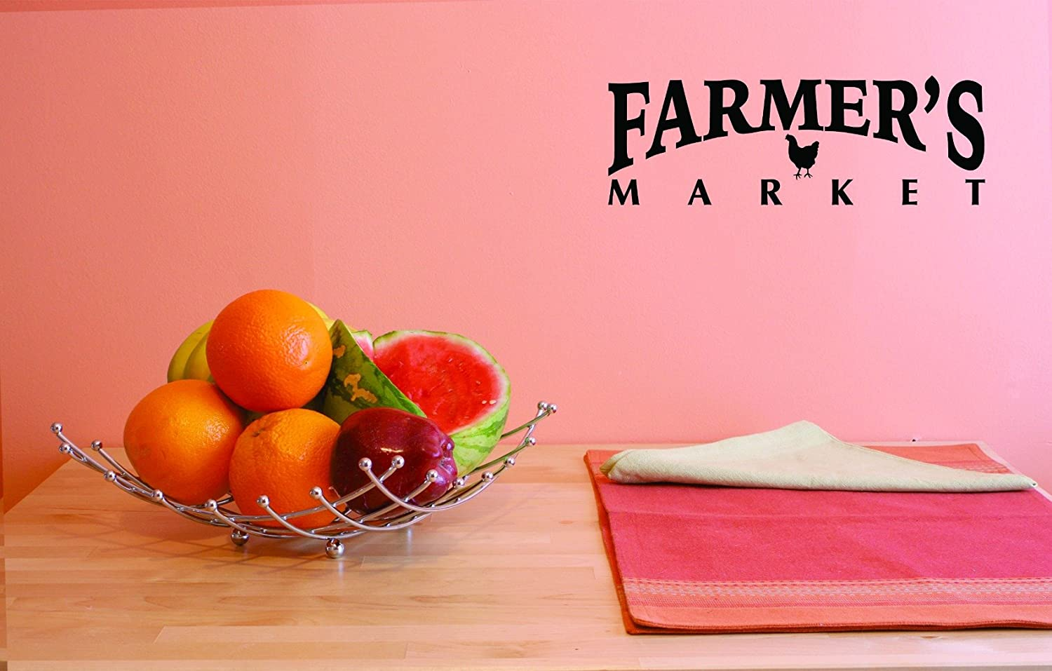 Design with Vinyl JER 1767 1 Hot New Decals Farmers Market Wall Art Size 10 Inches x 20 Inches Color Black 10 x 20