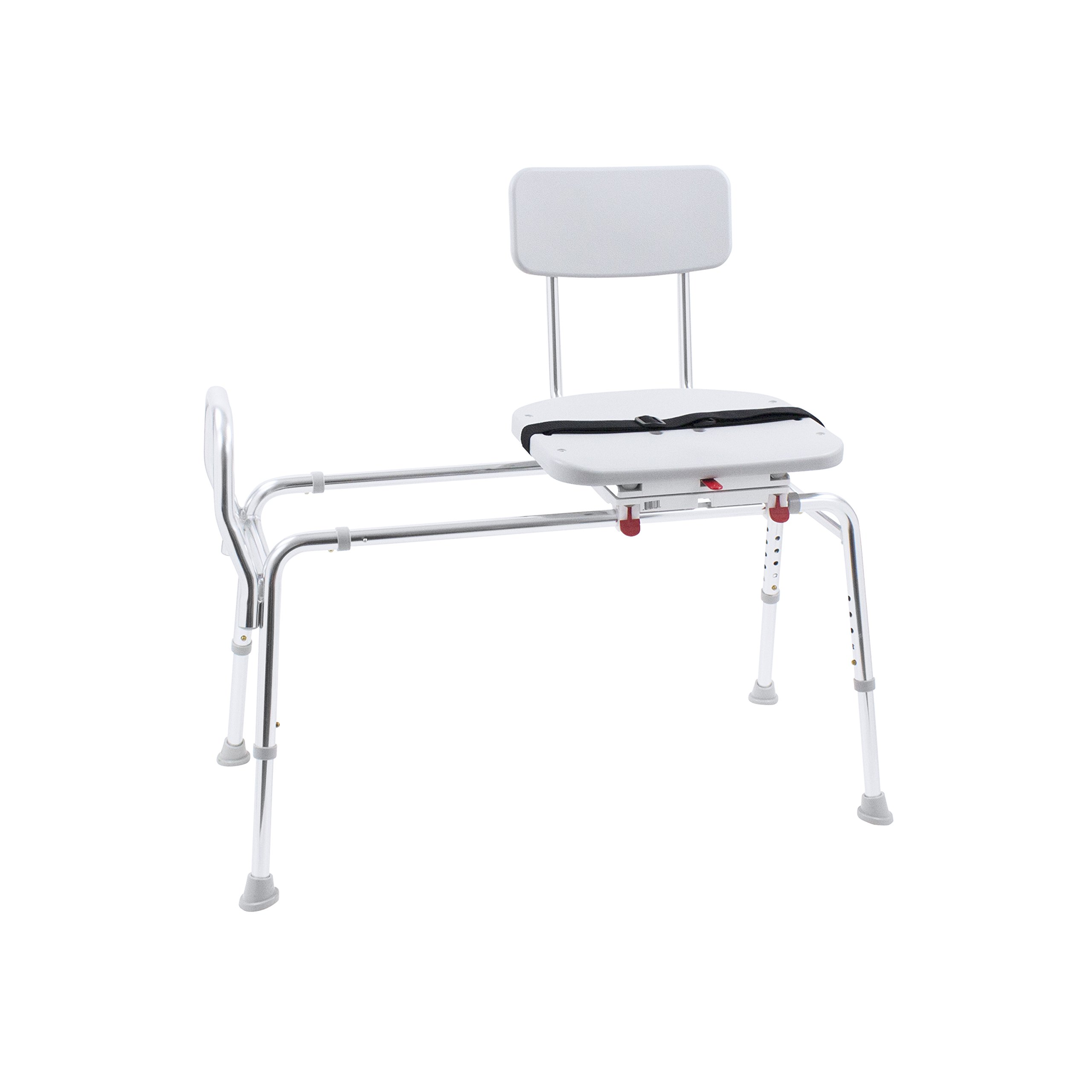 Eagle Health Supplies Swivel Sliding Shower Transfer Bench with Adjustable Height, No Tool Assembly by Eagle Health Supplies (Image #6)