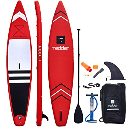 Amazon.com: Más rojo Nova hinchable paddle surf Race/Touring ...
